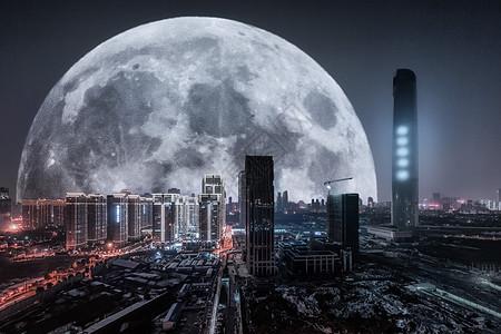科幻科技城市背景素材图片