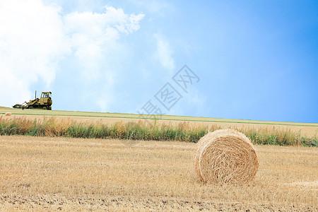 农田收割图片