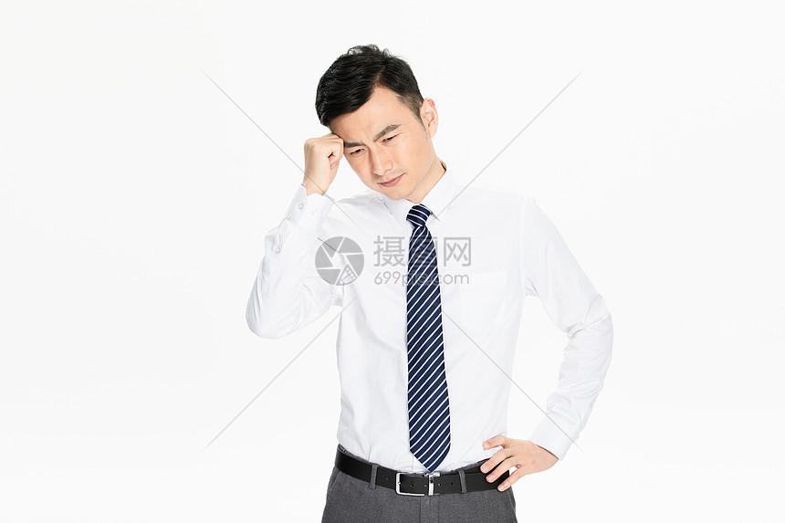 商务男性头疼图片