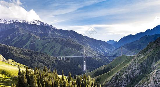 新疆伊犁果子沟大桥景色图片