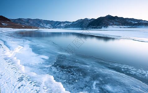 冰雪河流风景图片