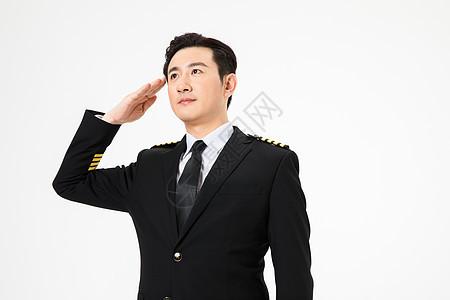 飞行员敬礼图片