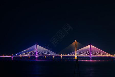 武汉二七长江大桥夜景风光图片