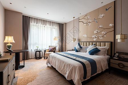 新中式酒店卧室图片