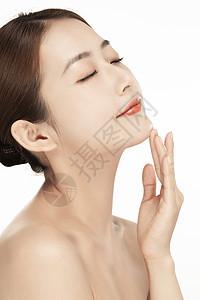 女性美容护肤特写图片