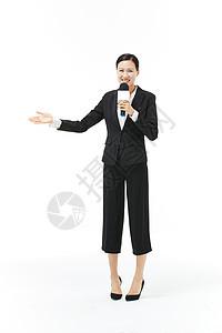 穿西装的女记者形象图片
