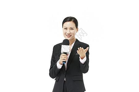 女记者采访图片