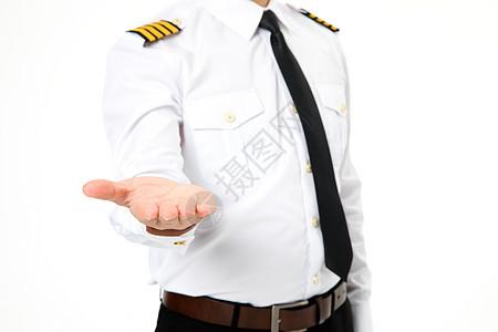 飞行员机长伸手形象图片
