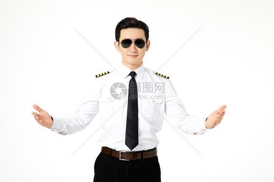 戴墨镜的飞行员形象图片