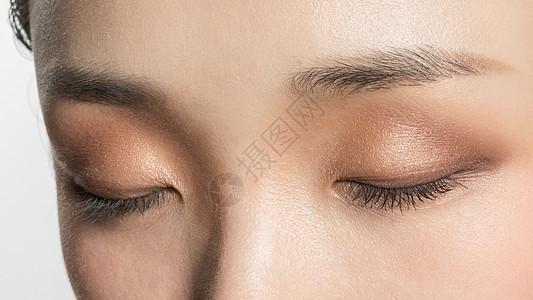 女性眼部美妆特写图片