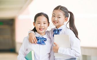 校园开学季小学生学习形象图片