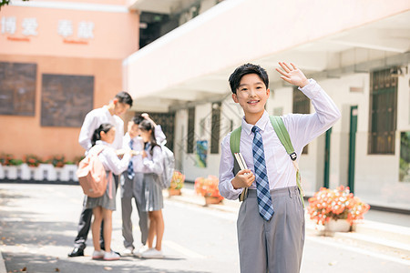 小学生课间形象图片