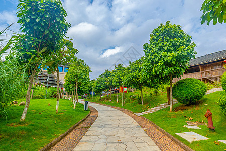 广西民族村小道图片