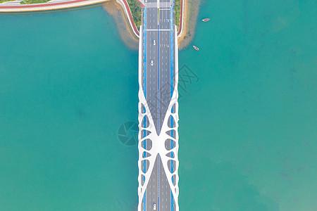 青岛珊瑚贝桥航拍图片