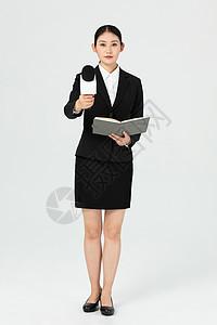 都市女记者采访工作图片
