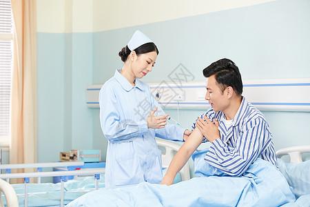 美女护士给病人打针图片