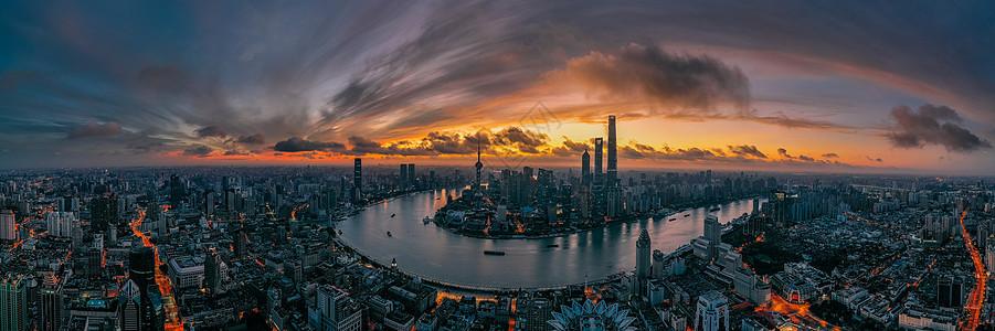 上海日出火烧云图片