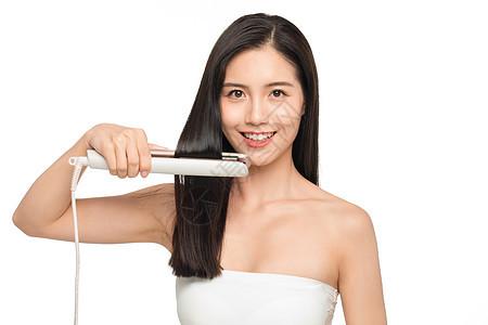 女性美发夹头发图片