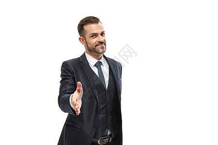 商务男性握手图片