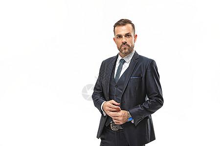 外国商务男性半身形象图片