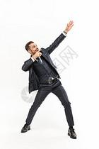 外国商务男性指手势图片
