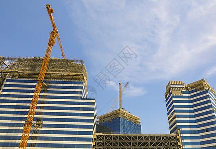 建设工地和塔吊图片