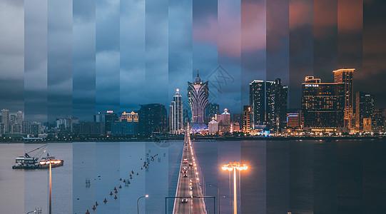 澳门城市分时摄影图片