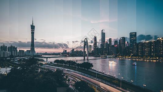 广州城市分时摄影图片