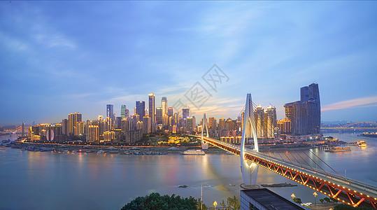 重庆渝中半岛全景夜景风光图片