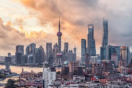 上海台风日出图片