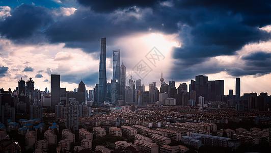 上海城市台风天气图片