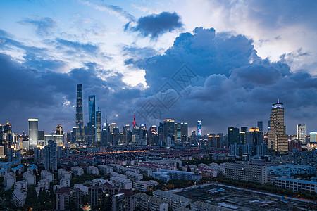 上海城市居民区风光图片