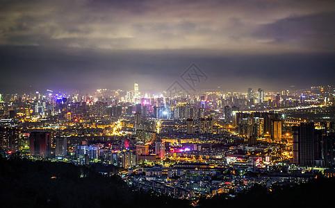 昆明城市夜景全景图片