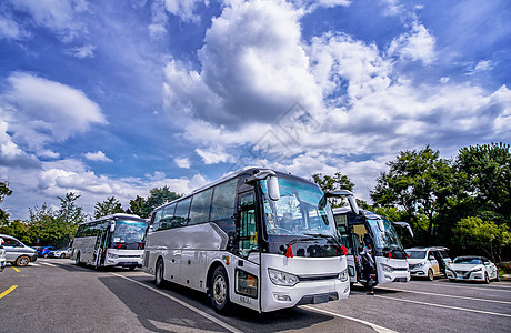 旅游客运大巴车内景外景图片