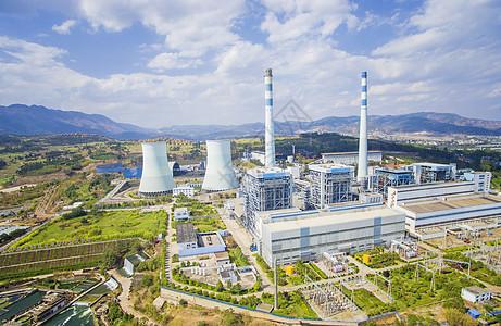 国家电网火电厂全景拍摄图片