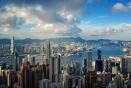 香港太平山顶风光图片