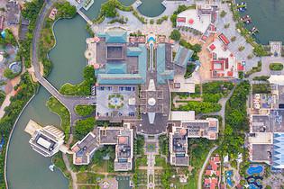 航拍广东珠海海泉湾酒店全景图片