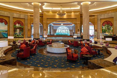 星级酒店入口大厅图片