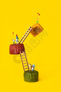 中秋节月饼创意小人图片