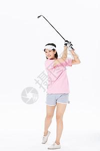 中年女性打高尔夫球图片