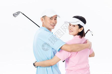 中年夫妇相约打高尔夫球图片