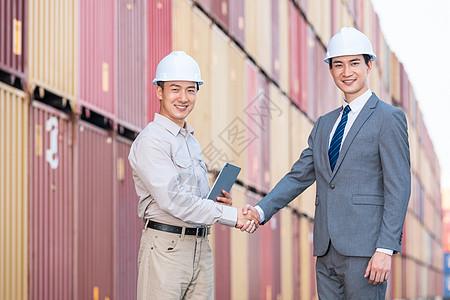 码头商人工作交流合作图片