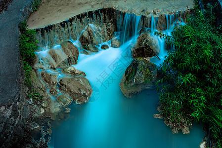 恩施大峡谷山川风光溪流瀑布图片