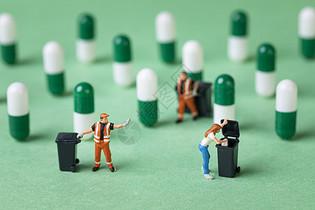 创意环保垃圾分类小人图片