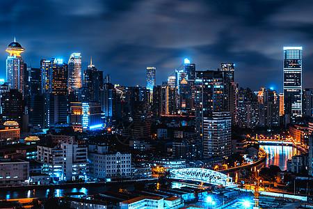 上海苏州河夜景图片