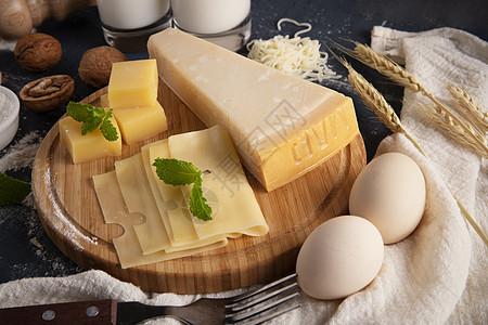 奶酪芝士甜点原料图片