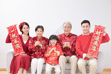 春节全家福照片图片