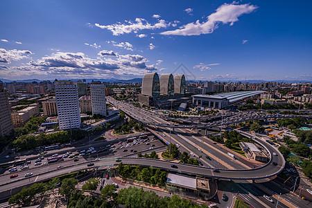 西直门立交桥全景图片