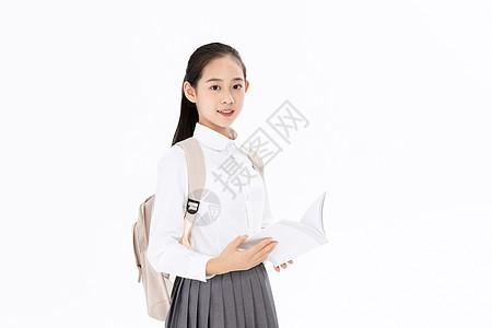 背着书包的中学生图片