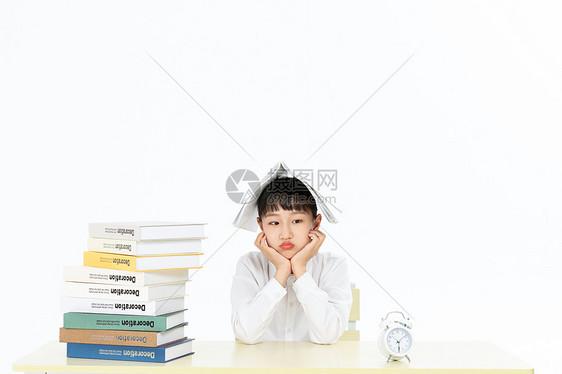 青少年学习压力烦恼图片